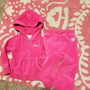 Juicy Couture hot pink sweat suit